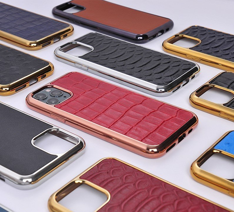 real leather cell phone covers, samsung, iphone, gold bumper, lovingcase