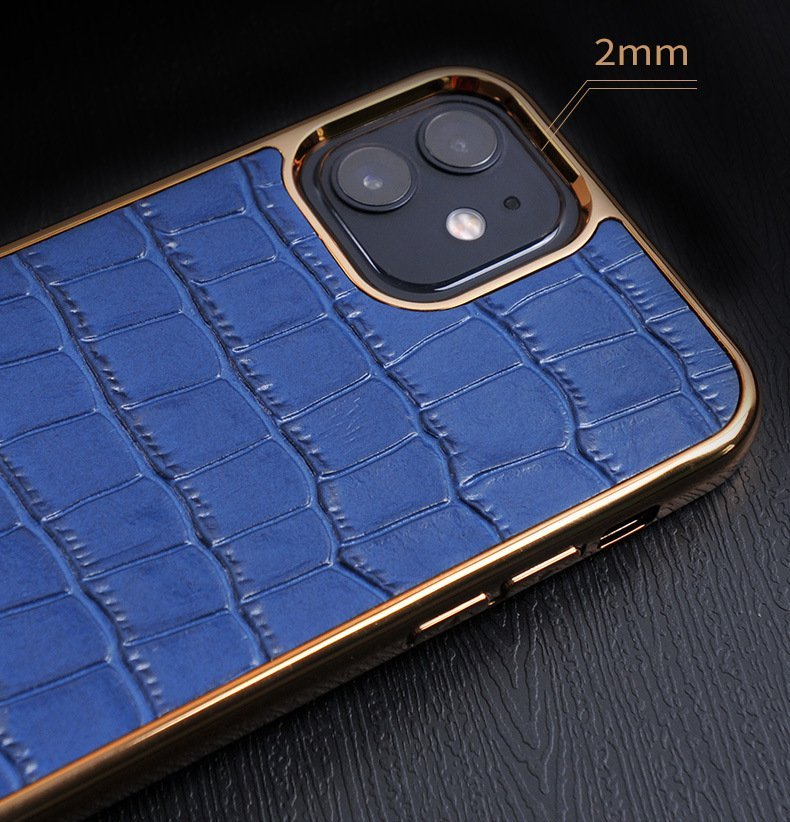 blue real leather cell phone covers, lovincase wholesale