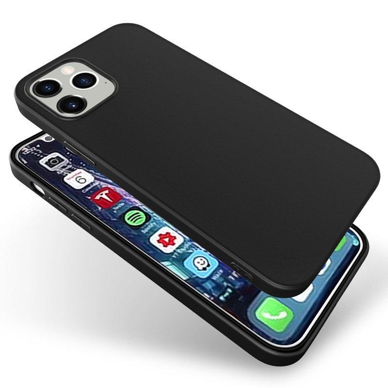sleek iphone cases in soft black tpu (matt), bulk wholesale, cheap cover