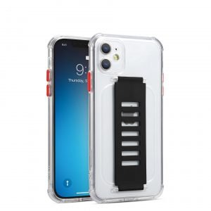 ultra impact clear case with grip band holder - lovingcase wholesale