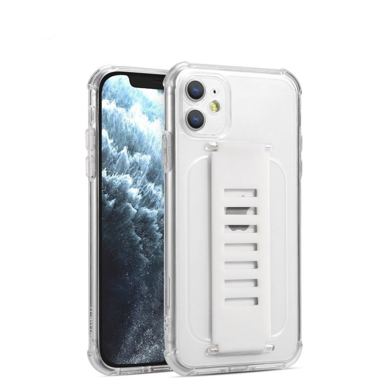ultra impact clear case with grip band holder - cell phone case vendor - lovingcase