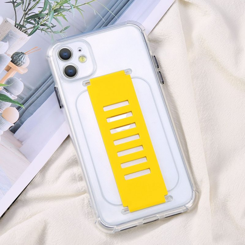 ultra impact clear case with grip band holder - cell phone cover vendor, UK, wholesale