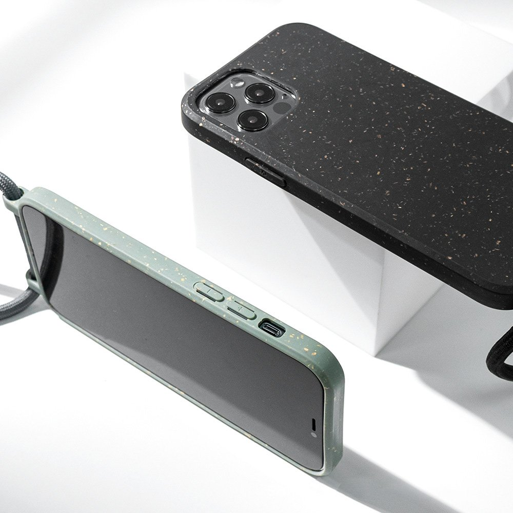 ompostable-iphone-covers-with-necklace-rope-lanyard---offwhite - eco friendly phone covers - lovingcase.com