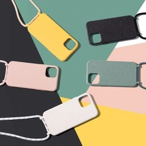 ompostable-iphone-covers-with-necklace-rope-lanyard---eco friendly iphone covers