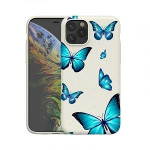 compostable iphone cases with blue butterfly, wholesale