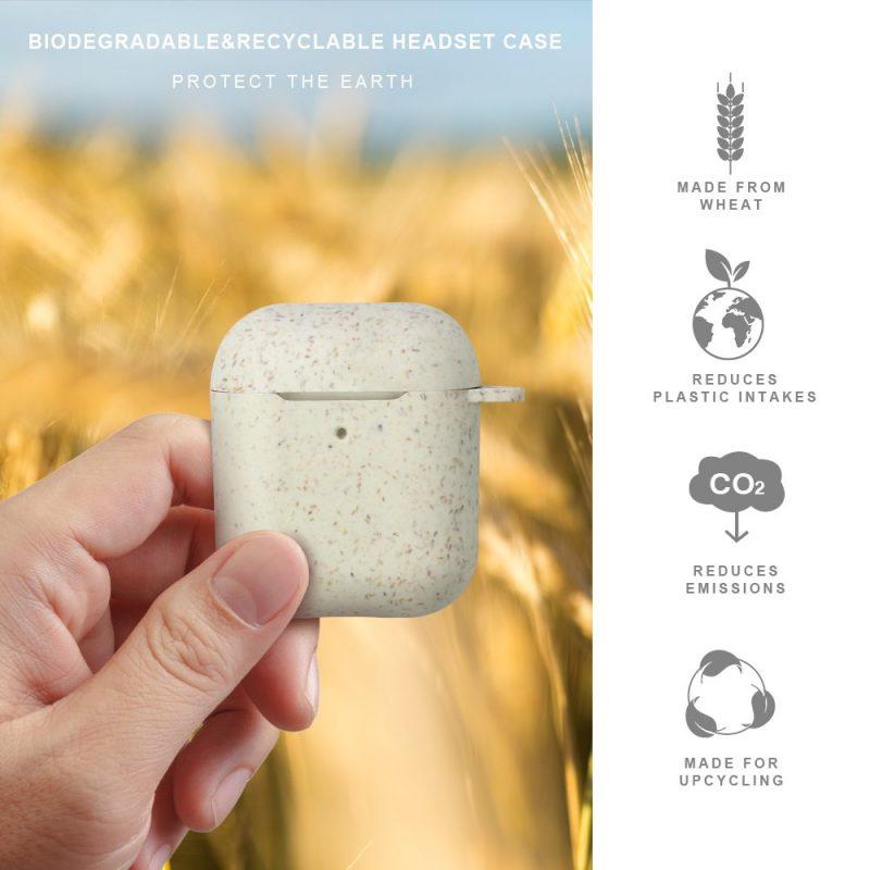 eco biodegradable airpods covers wholesale custom, lovingcase