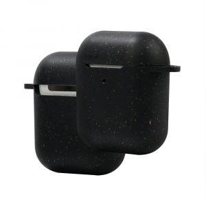 black compostable airpods 1/2 gen cases, custom, lovingcase