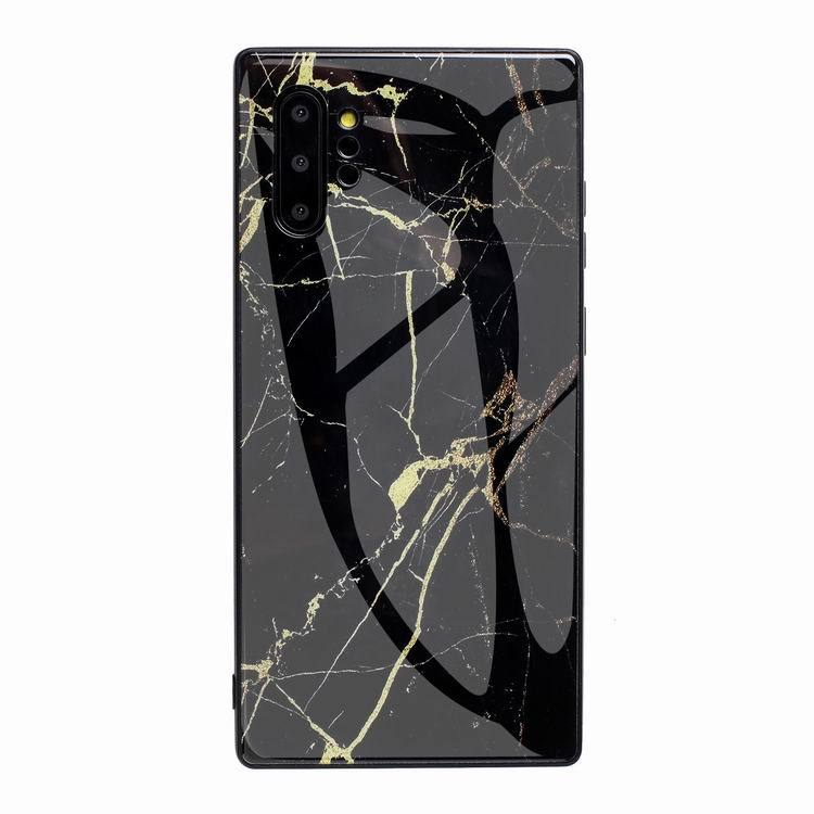 white marble - tempered glass case for samsung wholesale custom