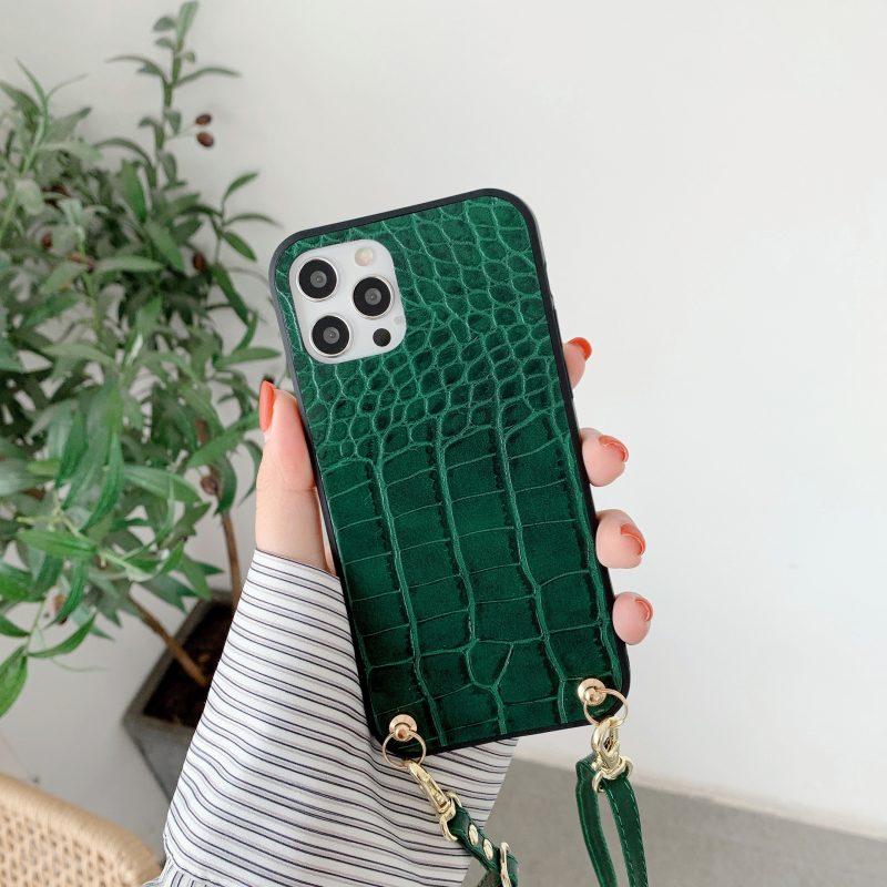 green faux leather fashion iphone covers bulk wholesale- manufacturer lovingcase