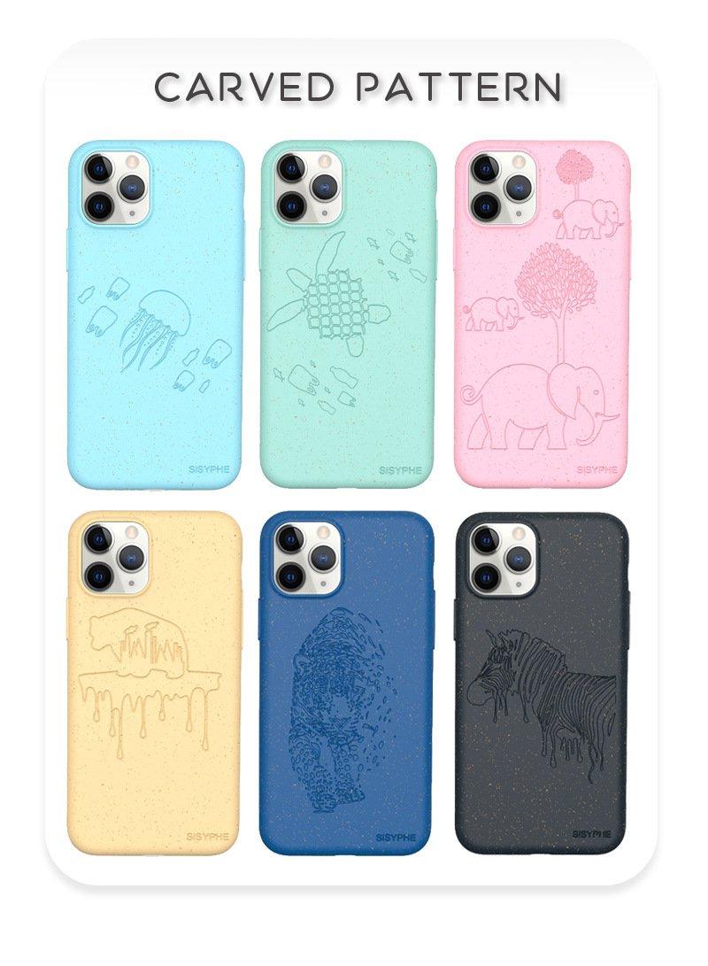 bulk laser engraved custom printed compostable iphone cases