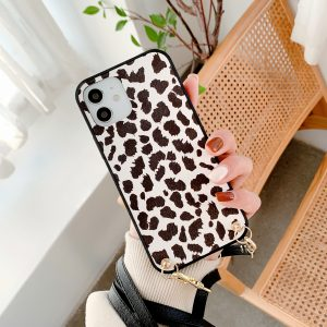 leopard summer phone cases for women - bulk wholesale with lanyard
