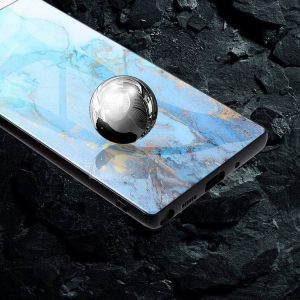 wholesale and custom in bulk tempered glass phone covers for samsung galaxy, blue marble note, lovingcase