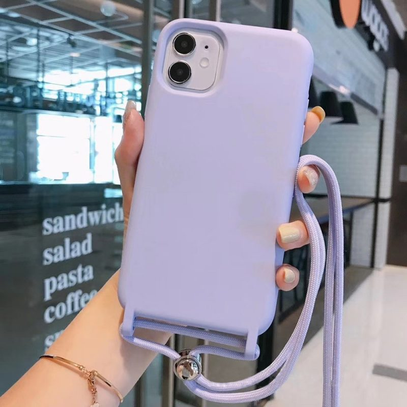 wholesale silicone iphone case with lanyard - summer color - lovingcase