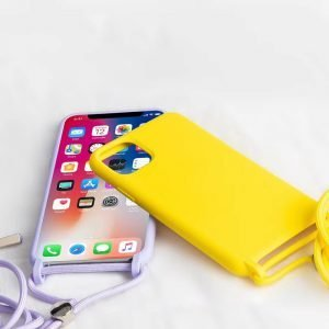wholesale silicone iphone case with lanyard - apple - lovingcase