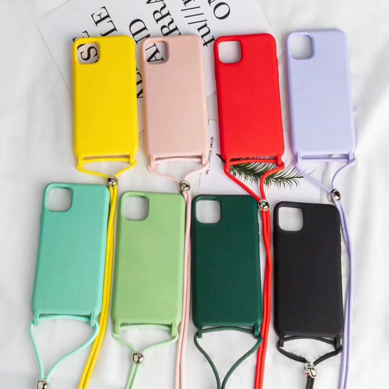 silicone phone case with lanyard phone model list - lovingcase wholesalefor summer cover