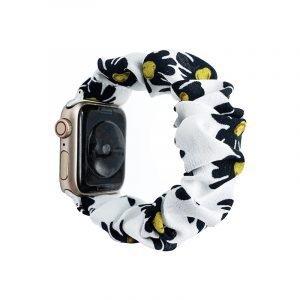 bulk buy scrunchie apple watch bands floral sunflower- white - lovingcase wholesale