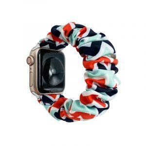 bulk buy wholesale scrunchie apple watch bands-geometry art print- mint white