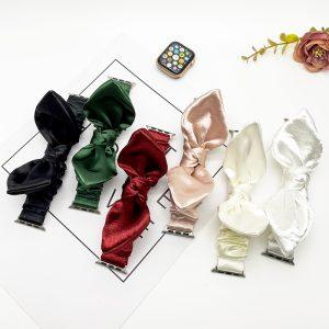 bulk buy wholesale scrunchie apple watch bands-satin bunny ear- 6 colors-lovingcase