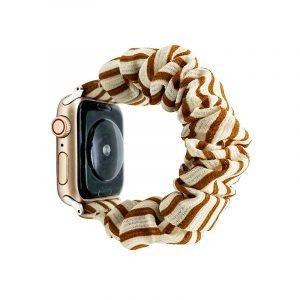 bulk buy wholesale scrunchie apple watch bands-stripes beige