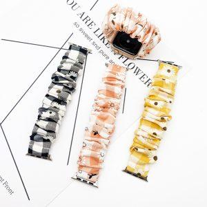 bulk sell scrunchie apple watch band bulk wholesale - daisy-yellow