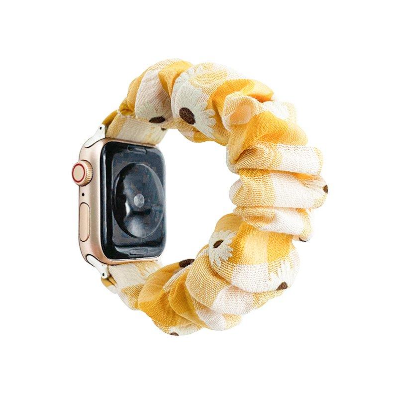 bulk buy scrunchie apple watch band bulk wholesale - daisy-yellow