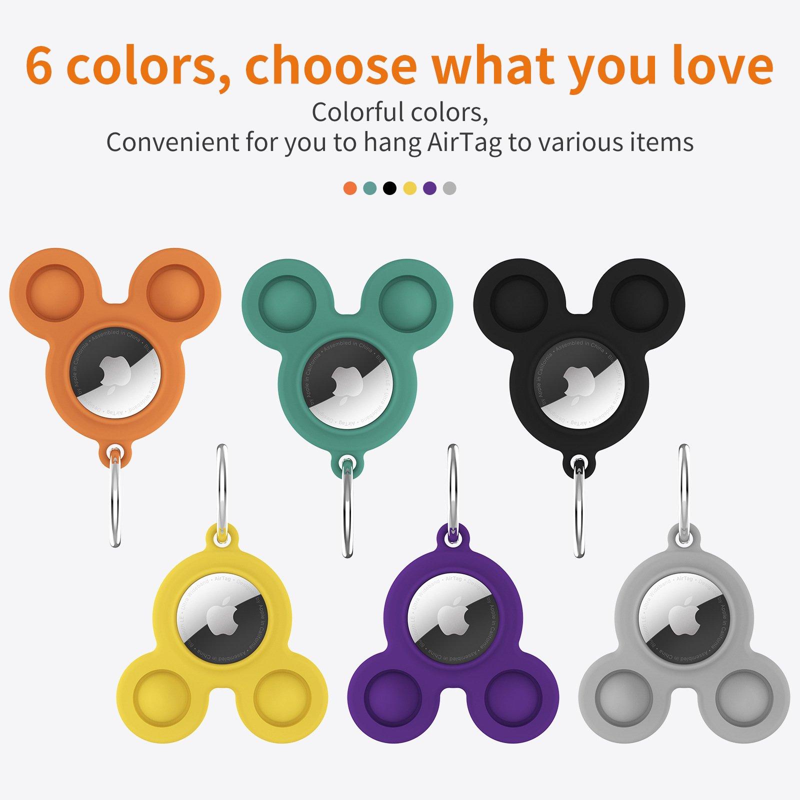LOVINGCASE bulk wholesale silicone airtag case key ring-6 solid colors