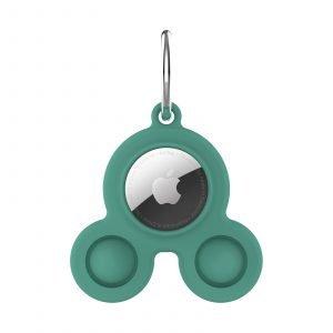 LOVINGCASE bulk wholesale silicone airtag case key ring-green