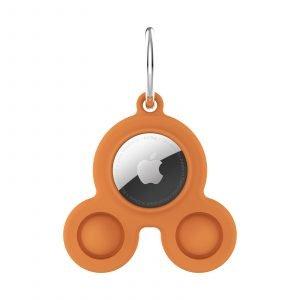 LOVINGCASE bulk wholesale silicone airtag case key ring-orange