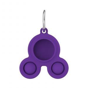 LOVINGCASE bulk wholesale silicone airtag case key ring-purple