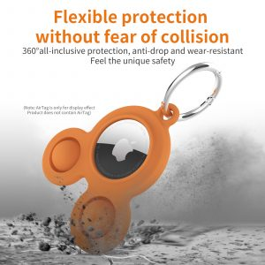 LOVINGCASE bulk wholesale silicone airtag case key ring-soft