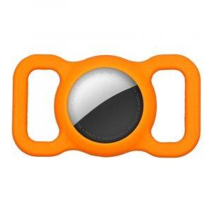 lovingcase bulk wholesale silicone airtag case holder for pets - orange