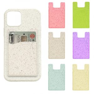 compostable phone case card holder for bulk wholesale custom, by lovingcase, solid colors
