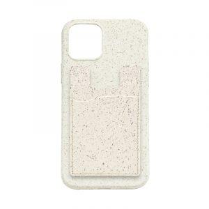 ivory color compostable phone case card holder for bulk wholesale custom, by lovingcase
