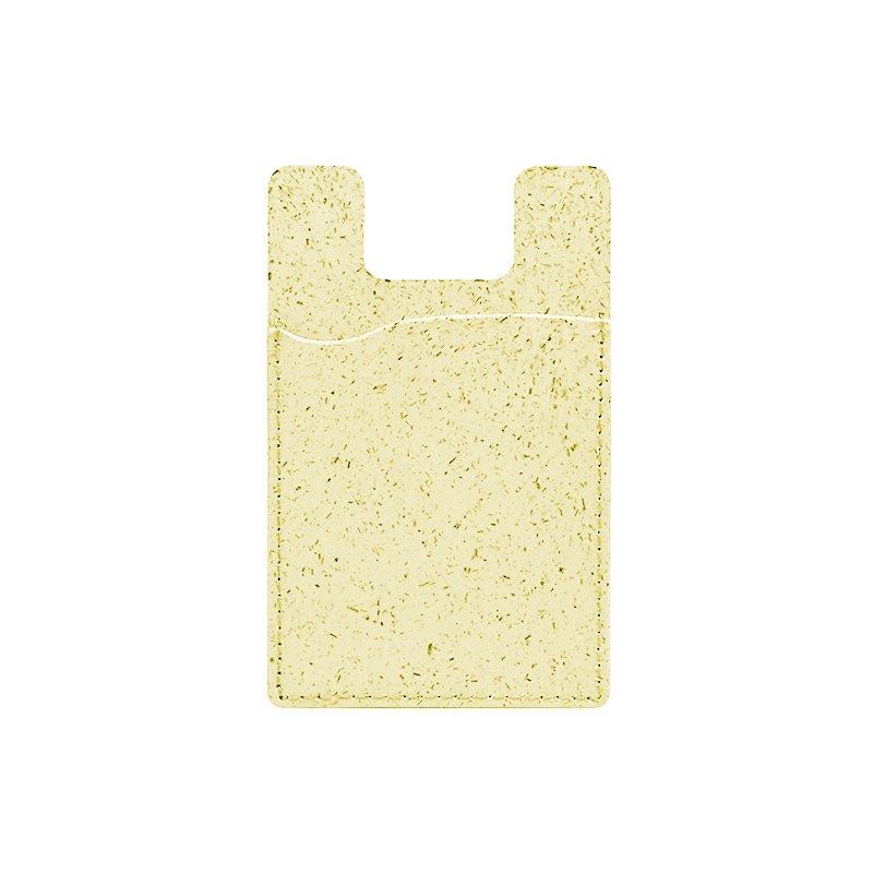 pastel yellow compostable phone case card holder for bulk wholesale custom, by lovingcase