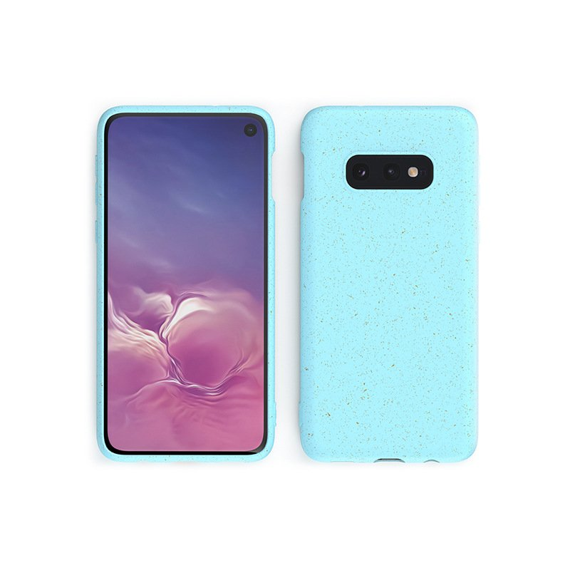 blue compostable phone cases for samsung for wholesale and bulk costom , by lovingcase