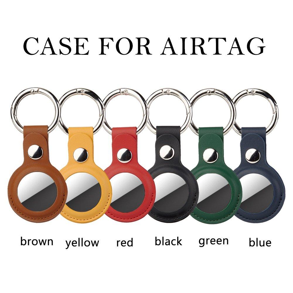 bulk wholesale wholesale leatherairtag key ring -lovingcase camel brown 3