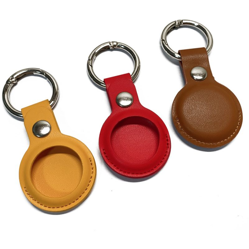 wholesale leatherairtag key ring -lovingcase 3 colors, customize