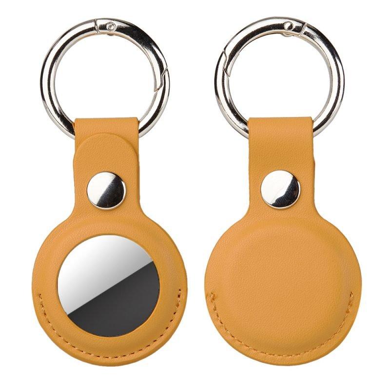 wholesale leatherairtag key ring -lovingcase dark lemon