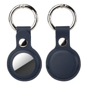 bulk wholesale leatherairtag key ring -lovingcase navy