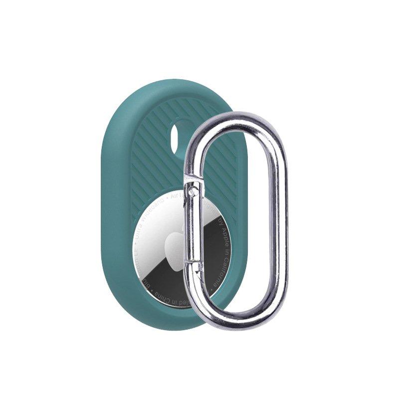 LOVINGCASE wholesale silicone airtag holder with key ring- blue green- bulk buy
