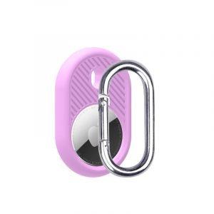 LOVINGCASE wholesale silicone airtag holder with key ring- bright purple - bulk buy