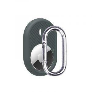 LOVINGCASE wholesale silicone airtag holder with key ring- dark grey- bulk buy