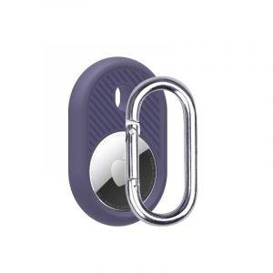 LOVINGCASE wholesale silicone airtag holder with key ring- dark purple