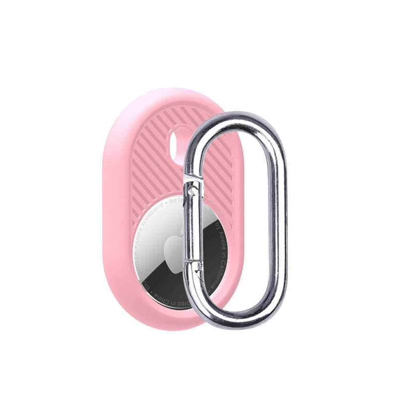 LOVINGCASE wholesale silicone airtag holder with key ring- pink 3