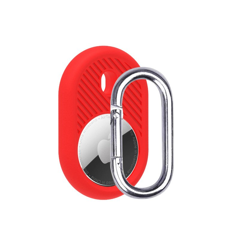 LOVINGCASE wholesale silicone airtag holder with key ring- red