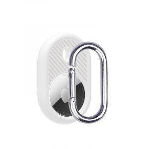 LOVINGCASE wholesale silicone airtag holder with key ring- white