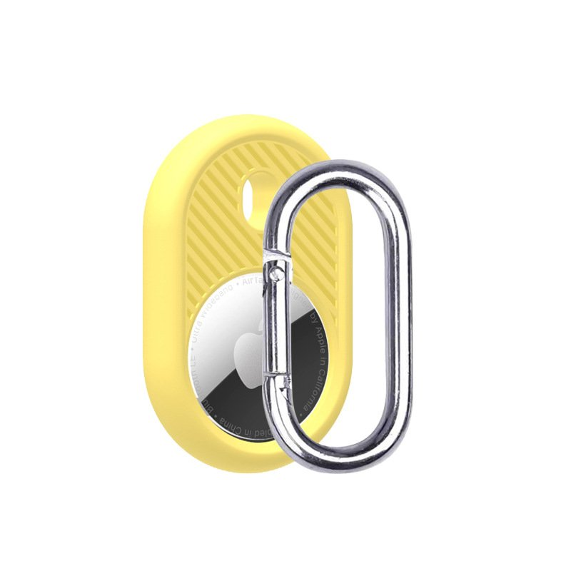LOVINGCASE wholesale silicone airtag holder with key ring- yellow