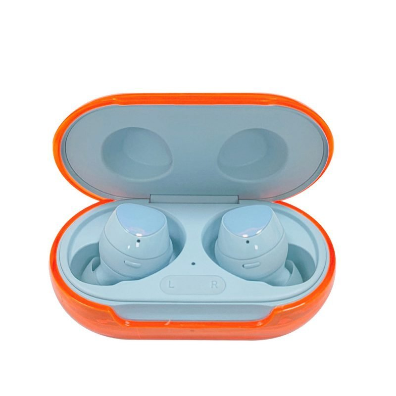 Lovingcase wholesale colorful clear samsung earbuds protective cases - orange 2