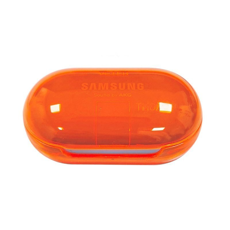 Lovingcase wholesale colorful clear samsung earbuds protective cases - orange