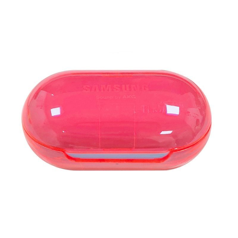 Lovingcase wholesale colorful clear samsung earbuds protective cases - pink